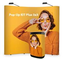 Pop-Up stěna KIT Plus 3x3 oblá